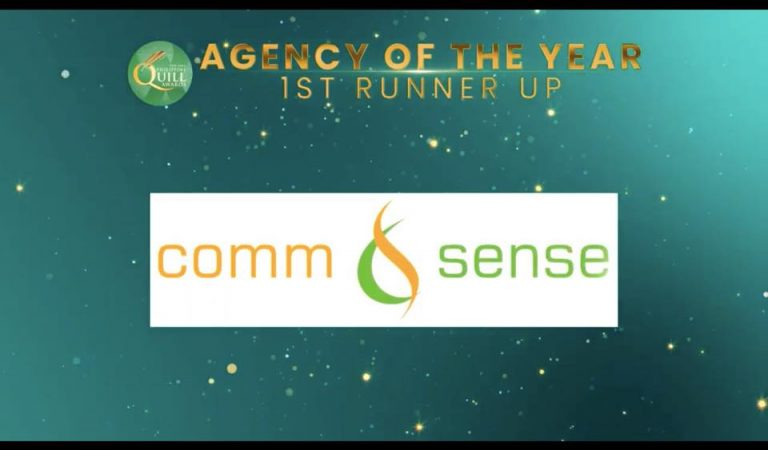 Comm&Sense Bags 1st Runner-Up Agency of the Year