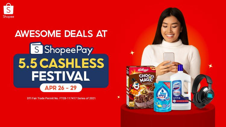 Go Cashless To Score Big Discounts at ShopeePay 5.5 Sale