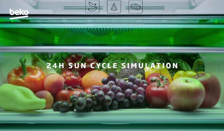 Beko HarvestFresh Fridge Mimics 24-Hour Sun Cycle