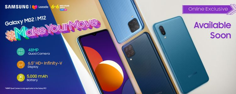 SAMSUNG Galaxy M12 Launches at Lazada 6.6 Mid-Year Sale