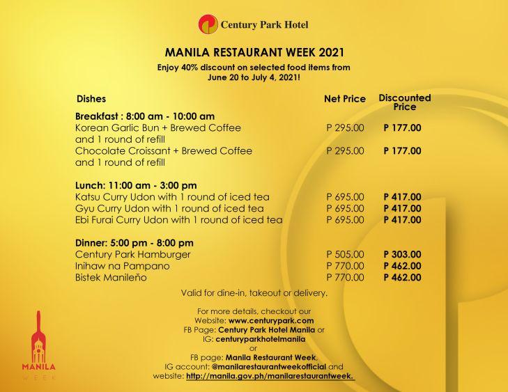 Manila Restaurant Week