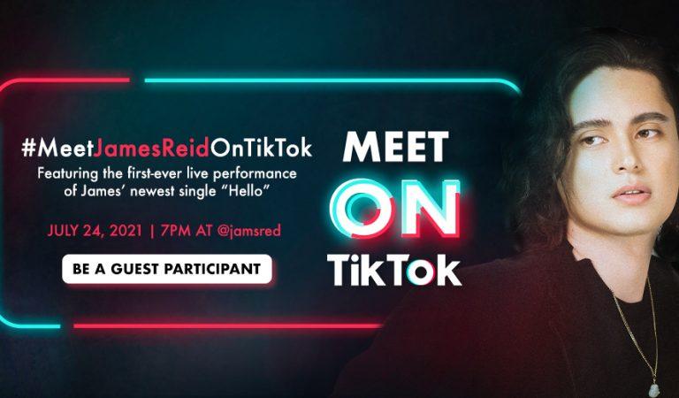 James Reid is #MeetOnTikTok Artist of the Month