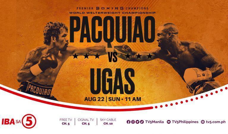BOXING: TV5 Airs Manny Pacquiao vs Yordenis Ugas Match