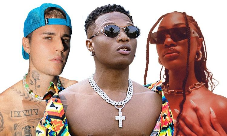 WizKid Adds Justin Bieber and Tems to the Essence Mix