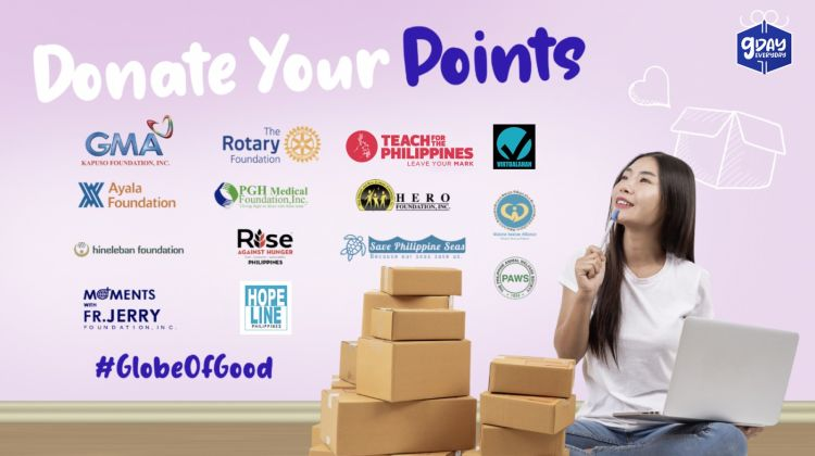 Pay It Forward | Donate Your Globe Reward Points Now