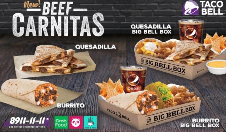 Taco Bell Now Offers Beef Carnitas on Quesadilla and Burritos