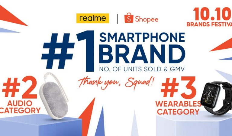 realme is the No. 1 Smartphone Brand During the 10.10 Shopee Sale