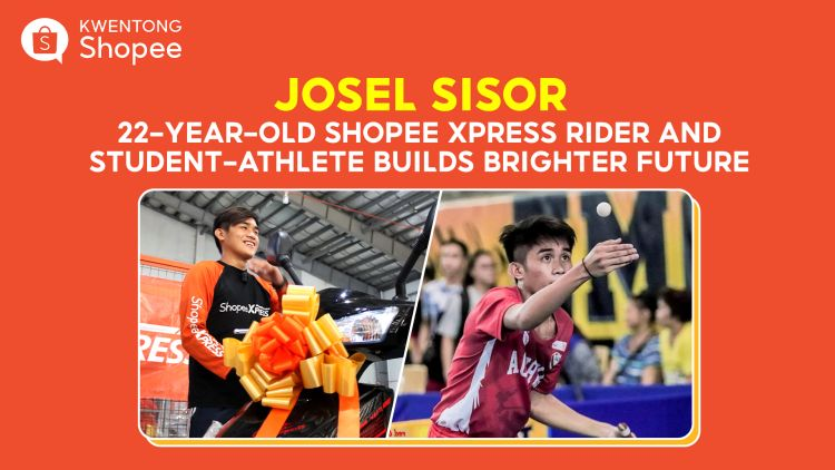 JOSEL SISOR   22-Year-Old Shopee Xpress Rider and Student-Athlete